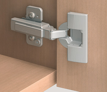 Concealed hinge, Clip 100°, half overlay/twin mounting