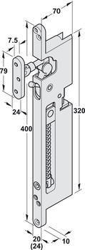 Conealed jamb door closer, FTS 24