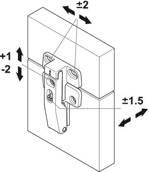 Connecting hinge, for Senso (+) and E-Senso (+)
