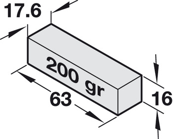 Counterweight, For inserting into counterweight box