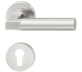 Door handle set, Residential area, stainless steel, Startec LDH 2180, escutcheon