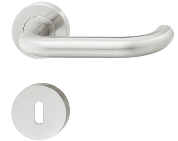 Door handle set, residential areas, stainless steel, Startec, LDH 2170, rose