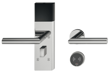 Door terminal set, Häfele Dialock DT 710 with Bluetooth interface HB, for interior/guest room doors, with thumbturn