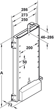 Electric lift system, load-bearing capacity 45 kg (installed vice versa 29 kg)