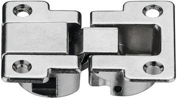 Flap hinge, 3-dimensionally adjustable, zinc alloy