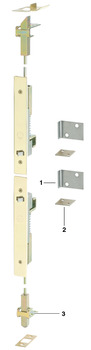 Flush bolt, fully automatic, for wooden or metal doors