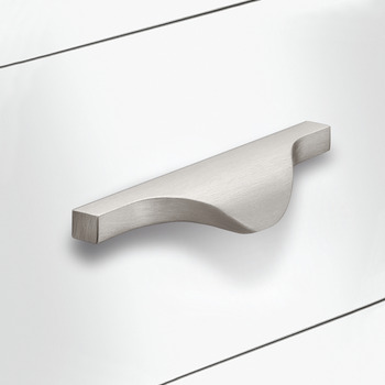 Furniture handle, aluminium edge pull handle
