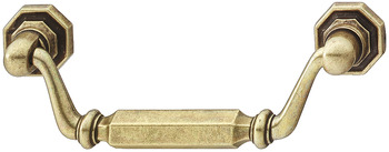 Furniture Handle, Drop Bar Handle, with Rosettes, Zinc Alloy