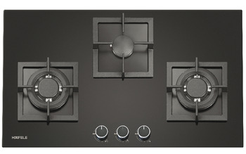 Gas hob, 3 gas burners, 78 cm