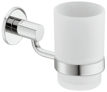 Glass clamp, With satin frosted glass, round