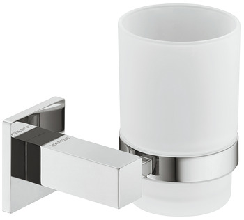 Glass clamp, With satin frosted glass, square
