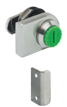 Glass door cam lock, Symo, for screw fixing