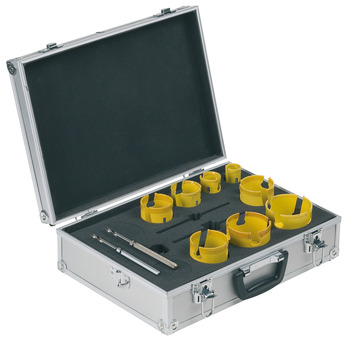 Hole-cutting set, 10-piece