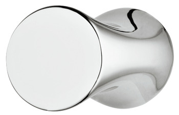 Knob, zinc alloy, cylindrical, with recessed grip