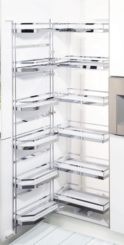Larder unit pull-out, internal pull-out with door shelf and hanging baskets