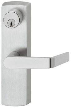 Lever handle, on backplate with standard cylinder