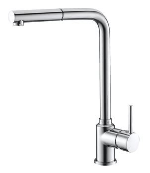 Mixer tap, Single lever, metallic finishes, extendable spray head