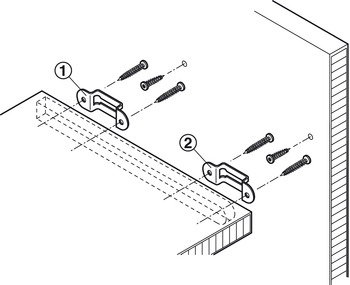 Modular Connector, for push-fitting, for shelves