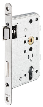 Mortise lock, for hinged doors, BMH, grade 4, profile cylinder, backset 65 mm