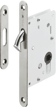 Mortise lock, For sliding doors, with compass bolt, Startec, bathroom/WC