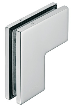 Overpanel/side panel connection patch fitting, Startec, for glass double action action doors
