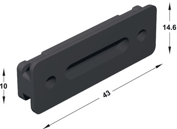 Panel clip, for Häfele AXILO™ 78 plinth adjusting fitting system