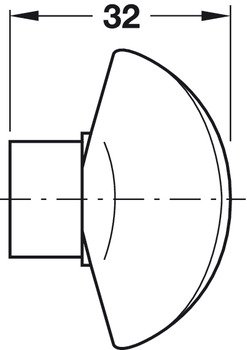 Profile Cylinder, Standard Startec profile, double cylinder with thumbturn