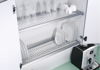 Railing system, for draining dishes