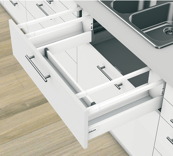 Rear panel fitting set, Tandembox antaro, for undersink cabinet pull-out