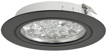 Recess mounted light, Round, LED 3001 – Loox, 1.7 W, aluminium, 24 V, cool/warm white