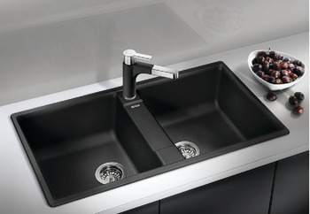 Sink, Silgranit, Blanco Zia 9, double bowl ,86 cm