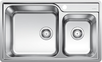 Sink, Stainless steel, Blanco Lemis, Double bowl