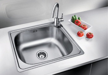 Sink, Stainless steel, Blanco plenta, one bowl