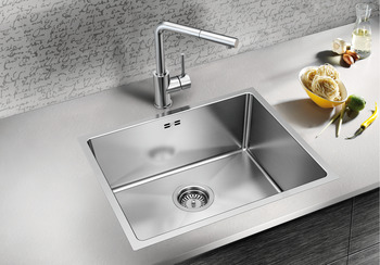 Sink, Stainless steel, Blanco quatrus, one bowl