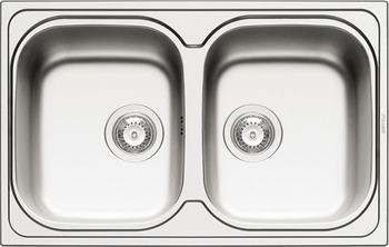 Sink, Stainless steel, HS-SD8650, double bowl