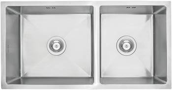 Sink, Stainless steel, HS-SD8745, squareline, 1 and 3/4 bowl