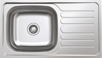 Sink, Stainless steel, Rose HS-SSD8247, one bowl with drainer