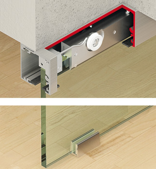 Sliding door fitting, Slido Classic 40-F-120-F, set