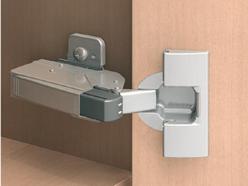 Soft-closing mechanism for doors, Blumotion, for hinges for half overlay/twin mounting