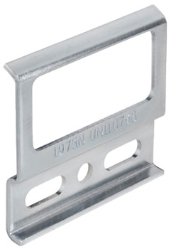 Support plate, steel, cabinet hanger with hook-off protection device