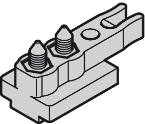 Track buffer, with retaining spring and rubber buffer