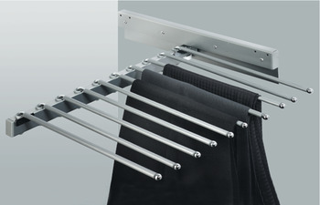 Trouser rack, extending, for 10 pairs of trousers, width 465 mm