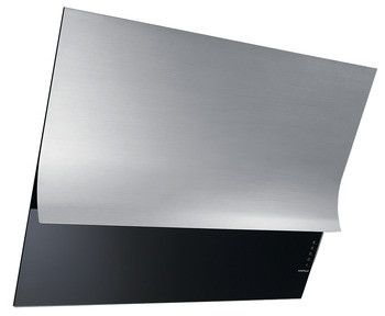 Vertical hood, Stainless steel and black glass panel, electronic soft touch control, 80 cm