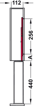 Rổ kéo, Mở toàn phần với cơ cấu đóng giảm chấn
